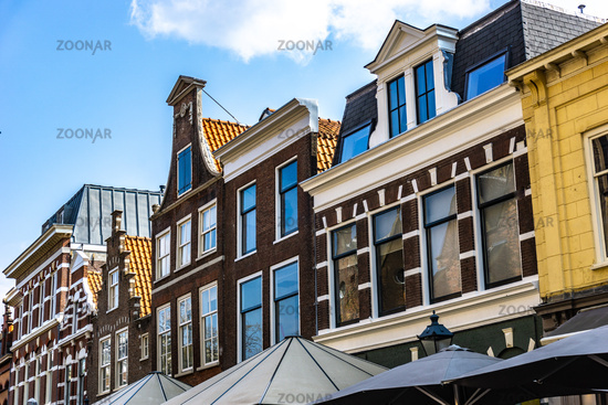 Beautiful Houses in Haarlem in the Netherlands