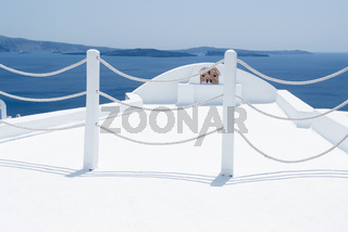 Panoramic View Toward The Aegean Sea From Oia, Santorini