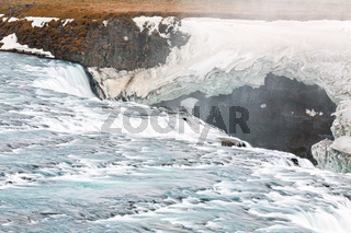 Close up of Gullfoss waterfall, Iceland