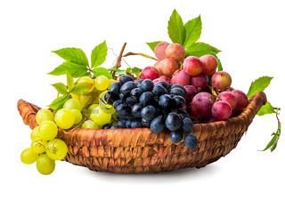 Grape in wicker basket
