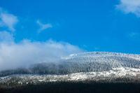 Winter im Riesengebirge bei Spindlermühle, Tschechien