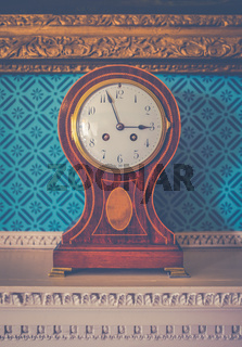 British Luxury Home Clock Detail