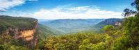the Blue Mountains Australia panorama
