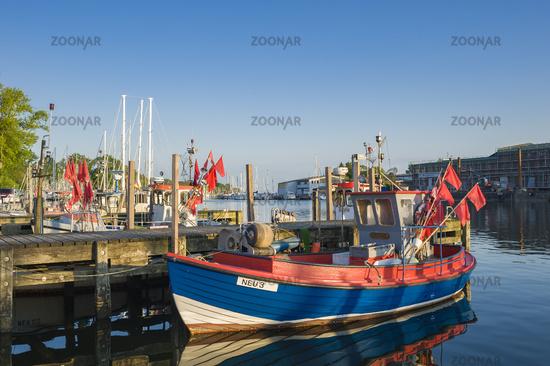 Fishing boats in the harbor in Neustadt in Holstein