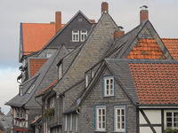 Goslar - Old town houses, cladded with slate, Germany