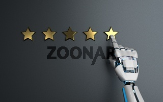 Humanoid Robot Hand 5 Stars Rating