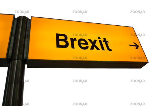 Orange Airport Brexit Sign