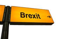 Orange Airport Brexit Sign
