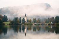 Lake Bohinj In National Park Triglav, Slovenia