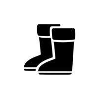Rain boots. Isolated icon. Winter footwear vector illustration