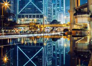 Hong Kong City Nightscape