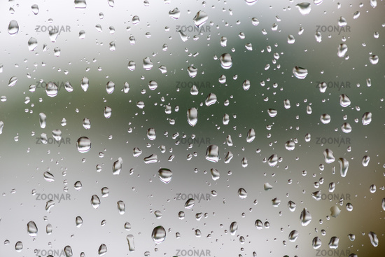 Water droplets on a window
