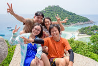 Thai tourists at Koh Nang Yuan island