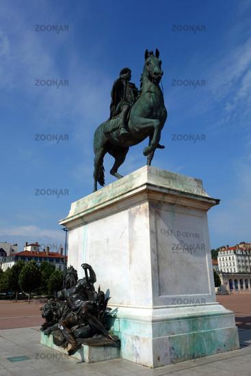 Equestrian statue of Louis XIV in Lyon