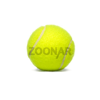 Yellow tennisball isolated on white background. Sport, fitness and competition concept.