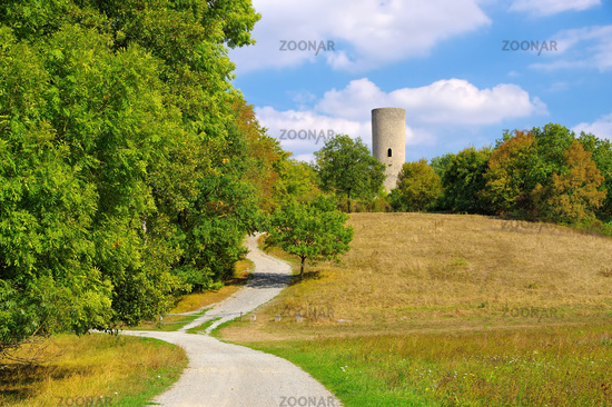the Reichelsburg near town Aub in Germany- the castle Reichelsburg near town Aub in Germany