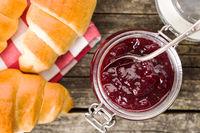 Raspberry jam jelly.