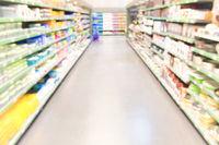 Market shop or supermarket interior