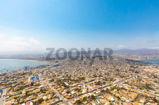 Chile Coquimbo city aerial view