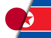 Tokyo And North Korea Nuclear Confrontation 3d Illustration
