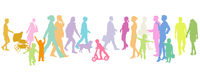 pedestrians on the sidewalk