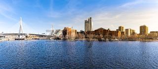 Boston Zakim bridge panorama