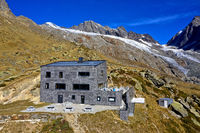 Mountain hut Peter Tscherrig Anenhütte, Lötschental, Valais, Switzerland