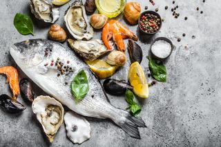Seafood fresh assortment