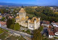 Vufflens Castle, Vufflens-le-Château, Vaud, Switzerland