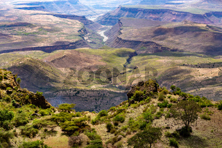 mountain landscape with canyon, Ethiopia