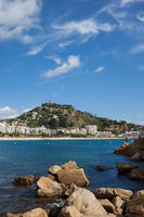 Town of Blanes on Costa Brava