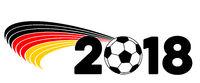 Hintergrund Deutschland Flagge Fußball WM 2018