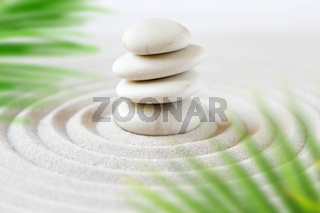Zen natural japanese garden background