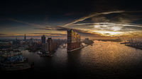 Elbphilharmonie and Hafencity at sunrise