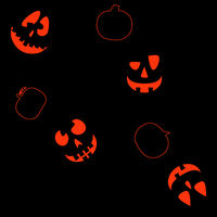 Halloween seamless background with Jack O'Lantern faces 3