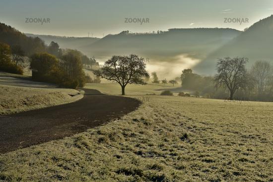 autumn mood on the swabian alb,
