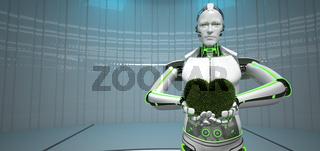 Eco Robot Green Heart