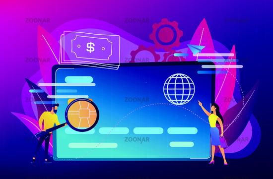 Plastic money concept vector illustration.