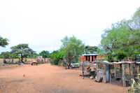 Camp at a cattle farm in Namibia