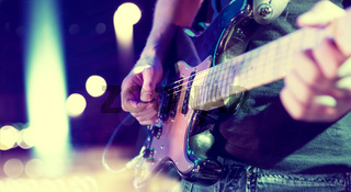 Stage lights.Abstract musical background.Playing song and concert concept