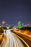 Dallas cityscape at the night time