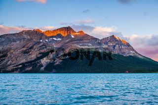 Sunrise at Bow Lake in Banff National Park, Alberta