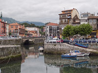 Llanes port in Asturias Spain at the afternoon