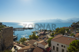 Old Town View Across Bay Mountains Antalya H