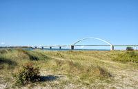 Fehmarnsund Bridge at baltic Sea,Schleswig-Holstein,Germany