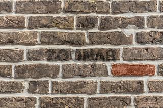 Details einer Ziegelmauer   Details of brick wall