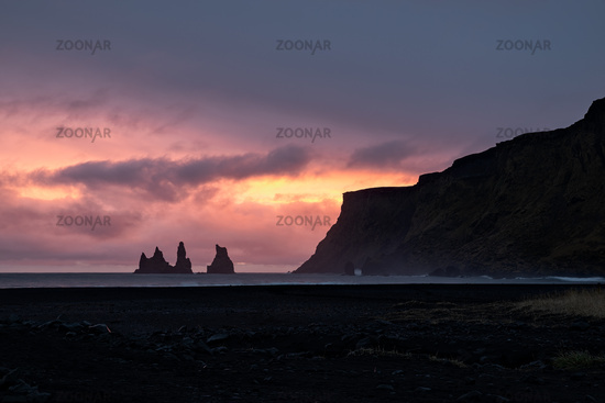 Sunset in Vik, Iceland