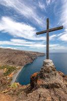 Mountain peaks on La Gomera, Canary Islands, Spain