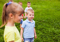 Outdoors game for children in summer camp