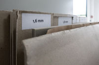 Colletion of Cardboard Paper Board with Differing Thicknesses in Printing Production Materials